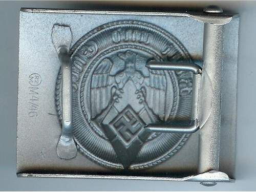 Hitler Youth Buckle Comparison of Original to Possible Fake