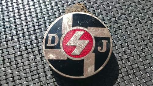 Hitler Jugend Young Youth Enamel Badge