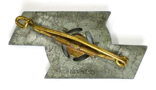 HJ Proficiency Badge M1/120 Wilhelm Deumer...