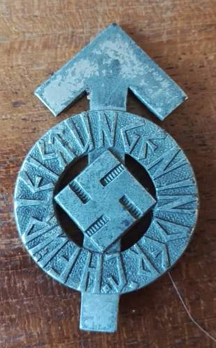 HJ sports badge
