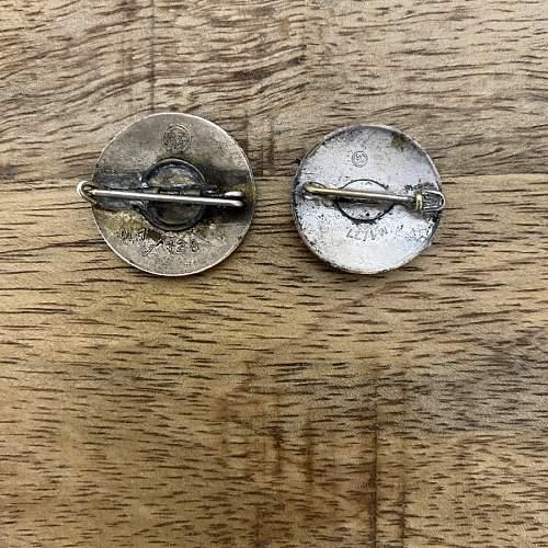 Nsdap and hj metal badges fake or original