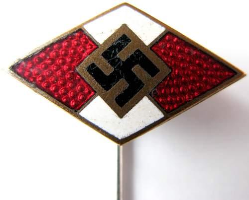Two strange HJ-badges