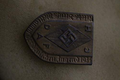 1934 Nazi Hitler Youth Participants Badge for the DAF