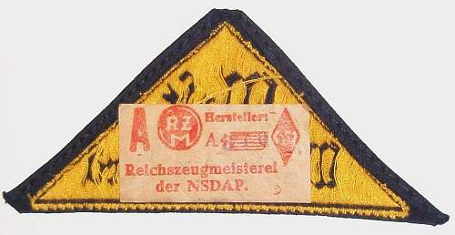 Hitler Youth Patch with RZM tag