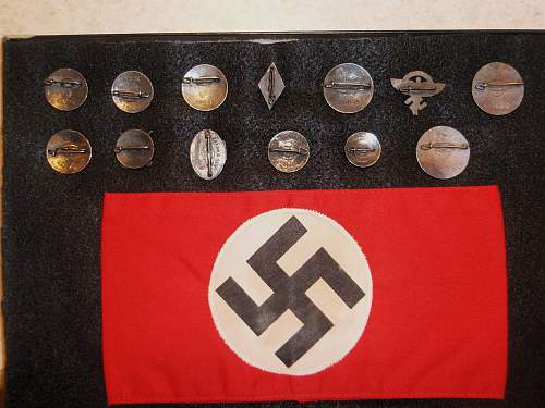 Estate Auction Finds...HJ Sharpshooter Pin, Hitler Youth pin, Party Pins, ????