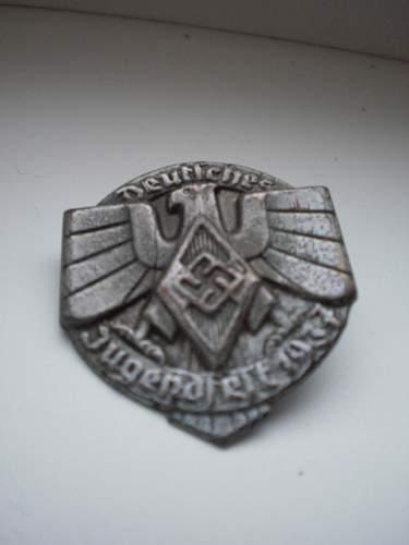 HJ Deutsches Jugendfest 1937 badge