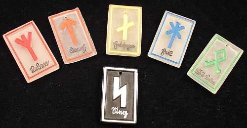 set of HJ Glass Runes