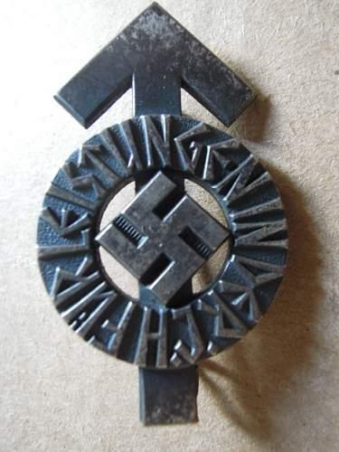 My first Hitlerjugend Leistungsabzeichen