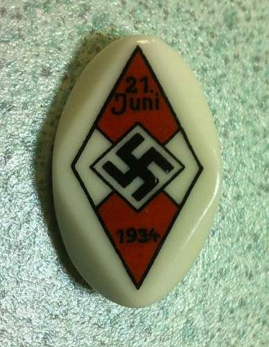 Hj pin badge