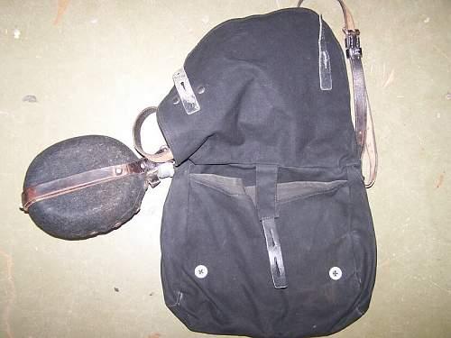 HJ Feldflasche und Brotbeutel schwarz