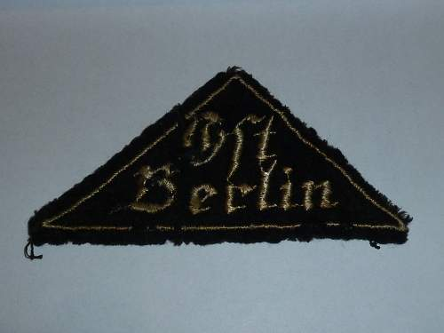 HJ-BDM OSt Berlin Patch
