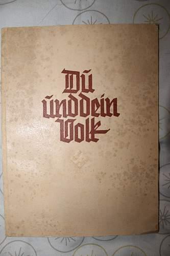 du und dien volk issued to a graduate 24 march 1939