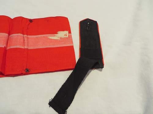 HJ armband and shoulder board.