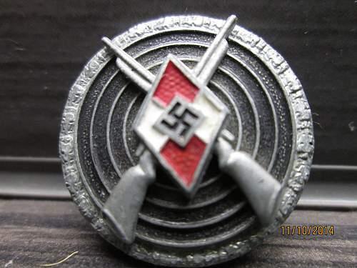 HJ Sharp Shooters Badge
