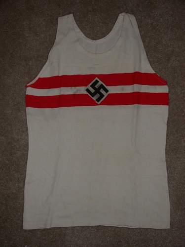 """Rare"" Hitler Jugend Flag? Ahem, shirt...."