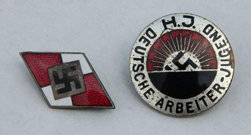 Old an new style cap insignia