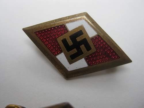 HJ Golden A & B Badges