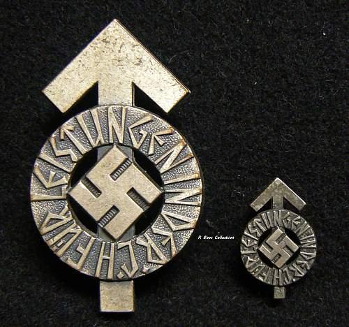 HJ Leistungsabzeichen Silver, Numbered, with Mini M1/35