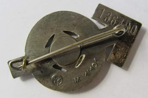 Leistungsabzeichen der HJ Silver M1/101