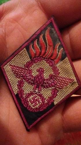 HJ firebrigade patch. Not sure on this one!