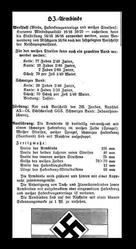 Great example of a HITLER JUGEND armband!