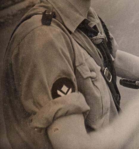 HJ Oberkameradschaftsfuehrer rank patch & Gebietsdreieck