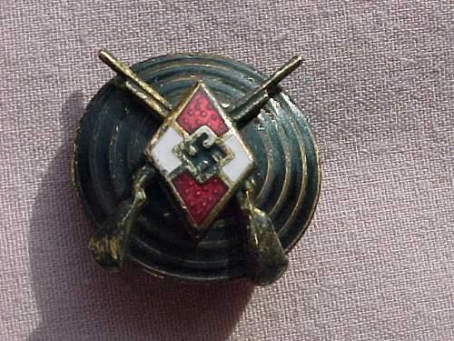 Hitler Youth Shooting Badge and Kreistreffen Der NSDAP Lippe tinnie: A good buy?