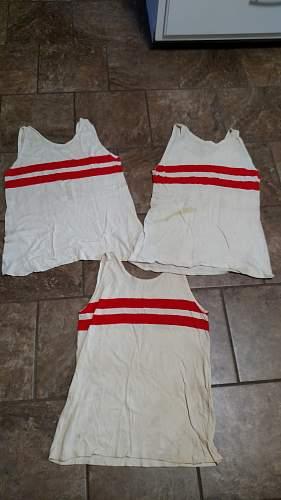 3x Hitlerjugend sport shirt