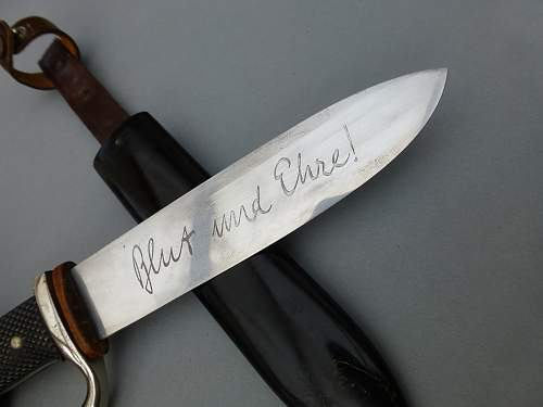 Untouched Hitler Youth Knife