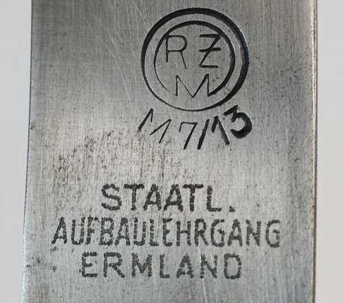 HJ Knife with strange Inscription