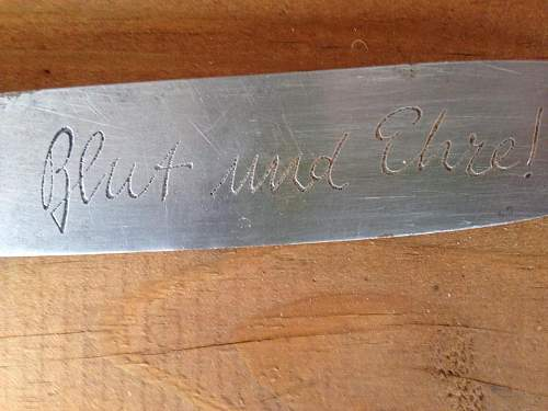 Opinions on HJ Knife with inscription
