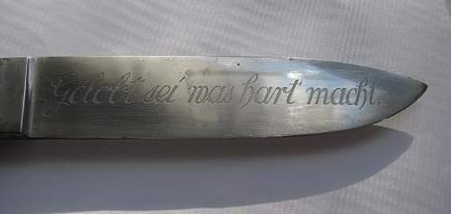 HJ Dagger with strange Inscription