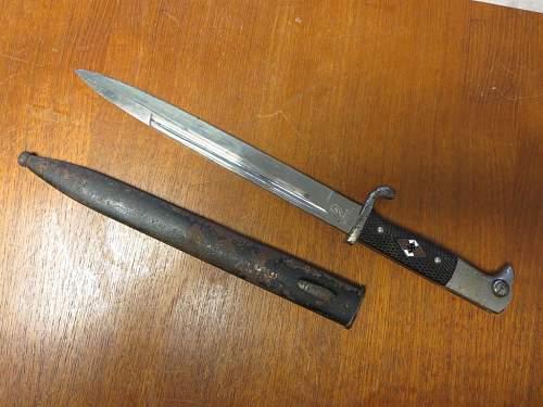 hitler youth bayonet