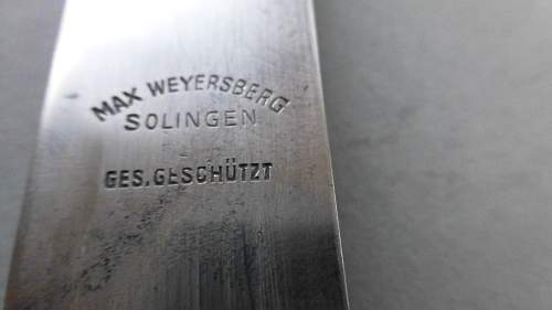 Early HJ Fahrtenmesser with Motto by Max Weyersberg