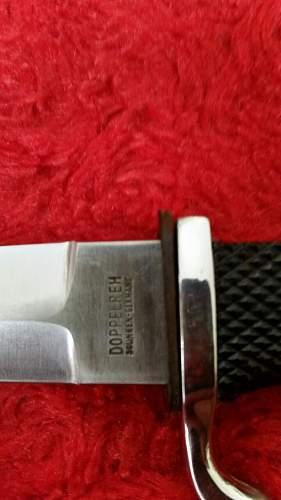 Hj knife :postwar or recent fake?