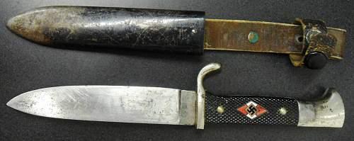 HJ  Knife RZM 7/27 1937