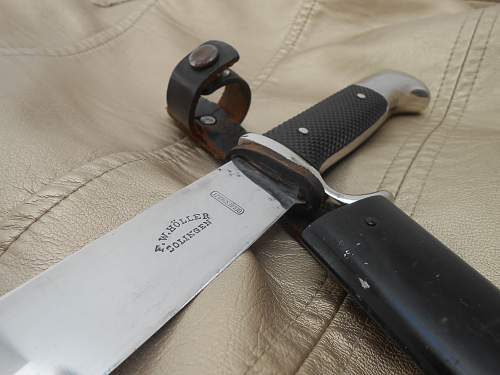 early HJ Knife in good condition - FW Holler