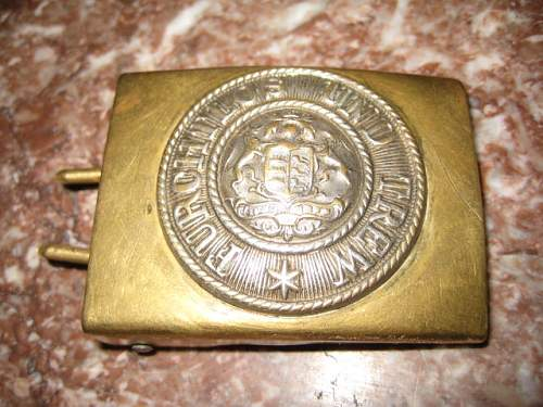 Imperial German Wurttemberg brass EM/NCO buckle
