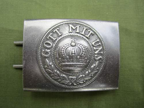 One piece Prussian buckle opinions please