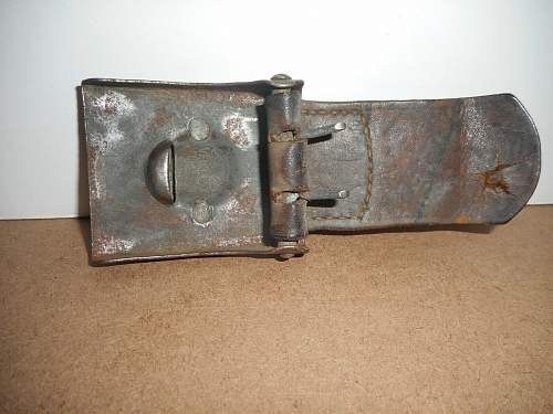 Saxon M15 2-Piece Steel buckle by RARE Maker, 103rd Reg't Marked