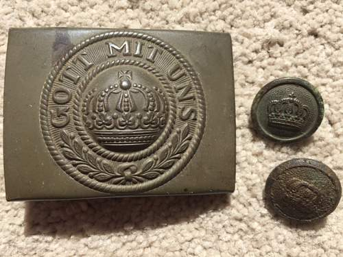 M1915 prussian em/nco's belt buckle