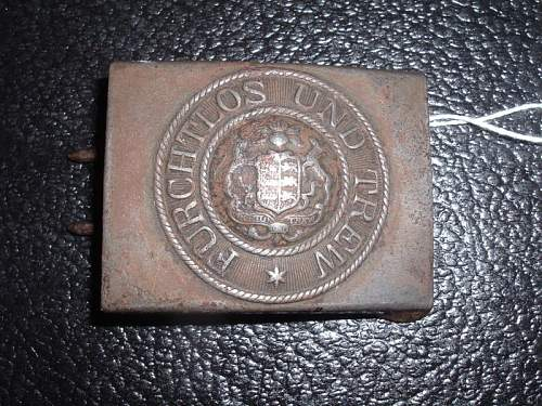 Click image for larger version.  Name:Original Imperial German Wurtemburg steel belt buckle.jpg Views:164 Size:125.6 KB ID:201692