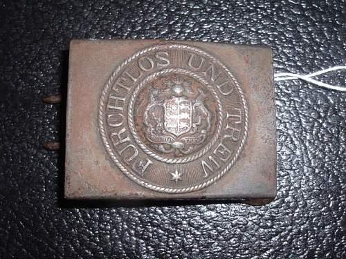 Click image for larger version.  Name:Original Imperial German Wurtemburg steel belt buckle.jpg Views:165 Size:125.6 KB ID:201692