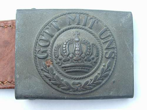 Click image for larger version.  Name:Late war Prussian Buckle Front.jpg Views:64 Size:125.8 KB ID:429009