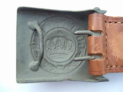 Click image for larger version.  Name:Late war Prussian Buckle Rear.jpg Views:64 Size:105.4 KB ID:429010