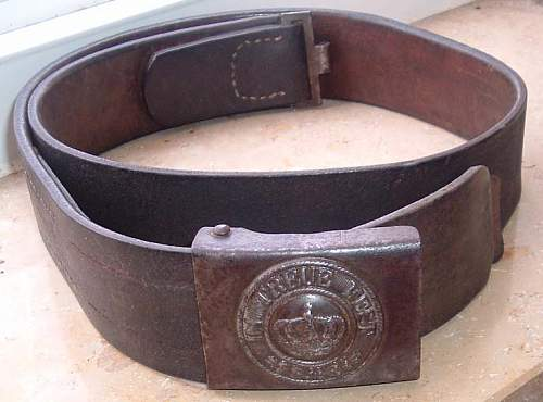 1915 Bavarian Steel Buckle - Small Crown why ?