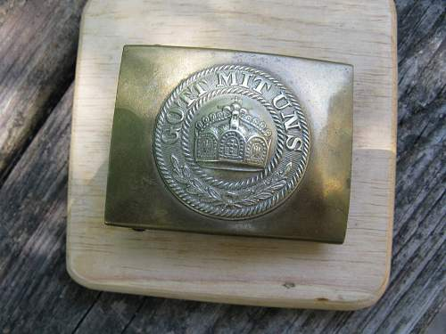 Pre WWI Colonial Buckle