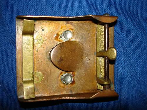 Private Purchase Prussian Tombak Friction Slider Buckle.