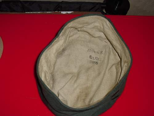 Click image for larger version.  Name:WWI German Doe Skin Kratzchen Cap 1916 Dated.4.jpg Views:794 Size:229.9 KB ID:337797