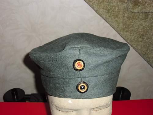 Click image for larger version.  Name:WWI German Doe Skin Kratzchen Cap 1916 Dated.jpg Views:2081 Size:128.6 KB ID:337799